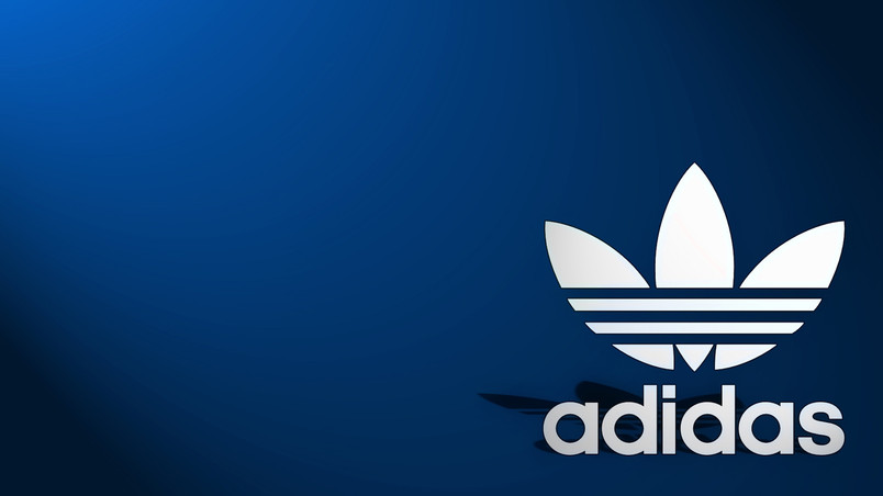 Adidas Logo Blue Background Hd Wallpaper Wallpaperfx