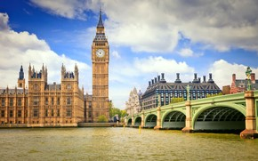 London Bridge and Big Ben wallpaper