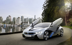 BMW i8 Open Doors wallpaper