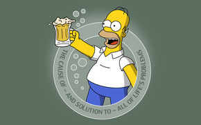 Simpsons and Beer wallpaper