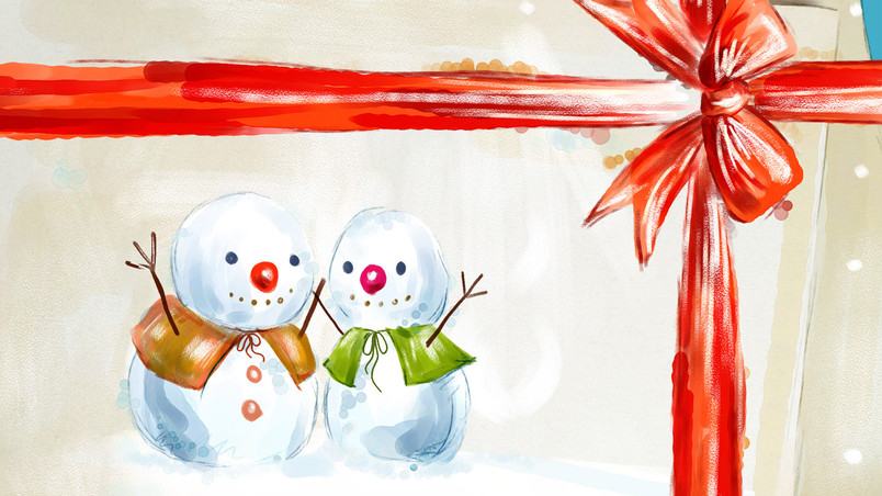 Happy Snowman wallpaper