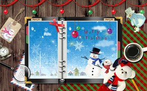 Snowman Christmas Card wallpaper