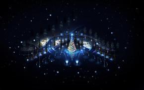 Lovely Christmas Trees Lighting