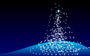 Christmas Tree Stars wallpaper