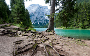 Lago di Braies wallpaper