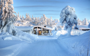 Snow House wallpaper