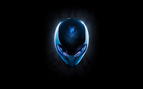 Blue Alienware wallpaper