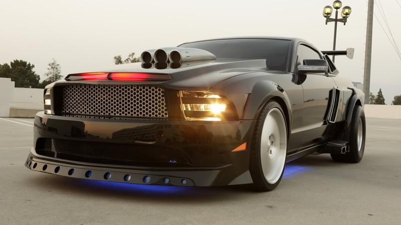 Black Ford Mustang Hd Wallpaper Wallpaperfx
