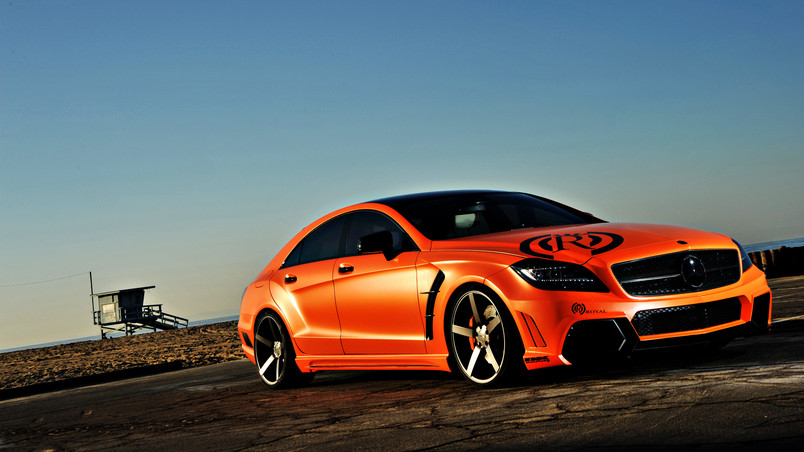 mercedes cls 63 amg tuning hd wallpaper wallpaperfx. Black Bedroom Furniture Sets. Home Design Ideas