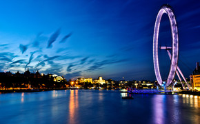 London Eye View wallpaper