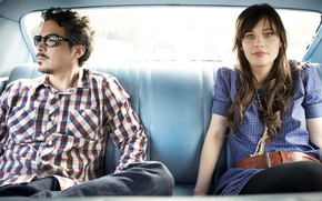 She and Him Band wallpaper