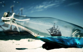Sailing in a Bottle wallpaper