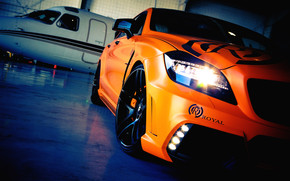 Orange Mercedez CLS Tuning wallpaper