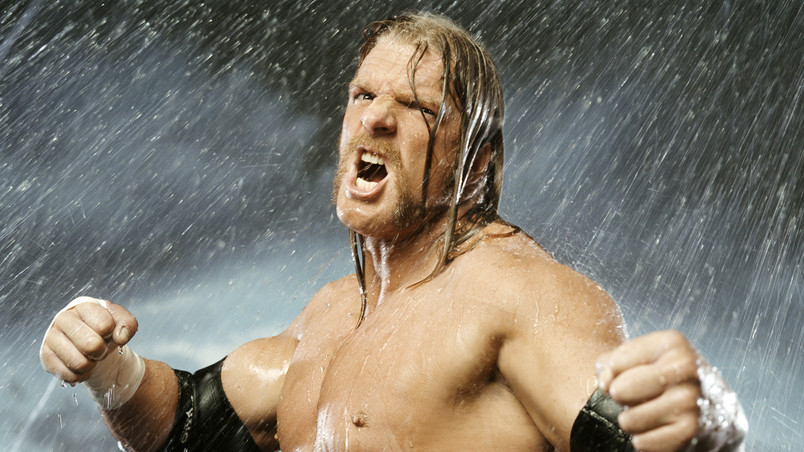 Angry Triple H wallpaper