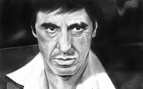 Al Pacino Scarface Fan Art wallpaper