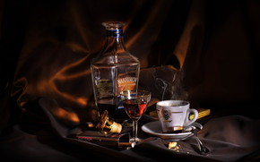 Cognac and Coffe wallpaper