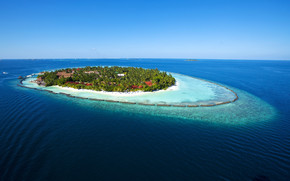 Amazing Maldives Island View wallpaper