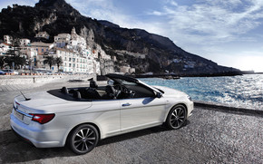 White Lancia Flavia Cabrio wallpaper