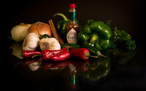 Cool Vegetables and Sauce wallpaper