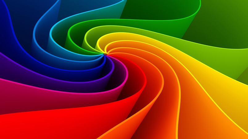 Amazing Abstract Rainbow wallpaper