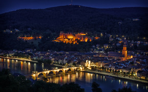 Heidelberg Night Lights wallpaper