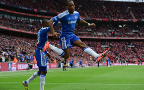 Drogba Jump wallpaper