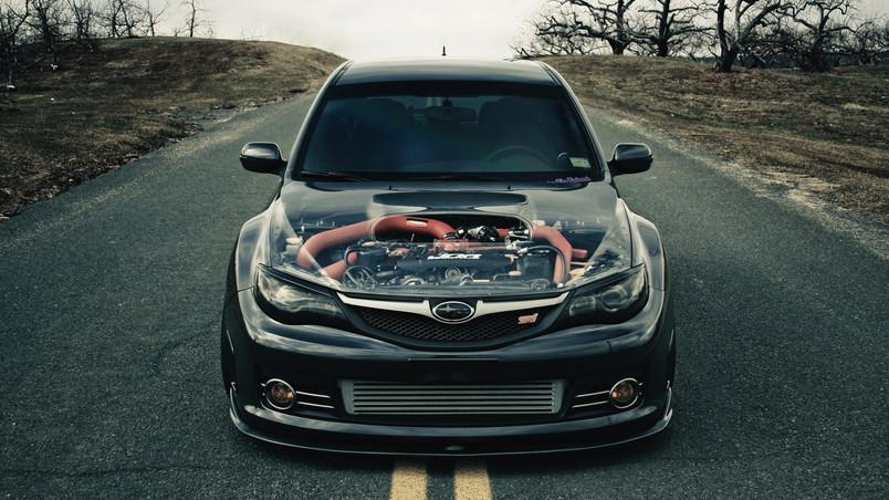 Dark Subaru Impreza Sti Hd Wallpaper Wallpaperfx