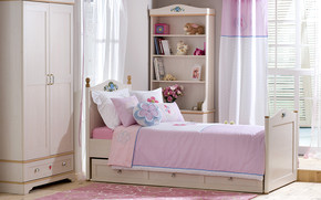 Modern Pink Bedroom wallpaper