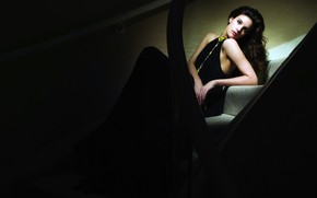 Liv Tyler on The Stairs wallpaper