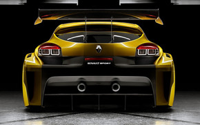 Yellow Megane Trophy Rear wallpaper