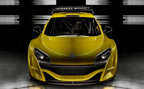 Yellow Megane Trophy Front wallpaper