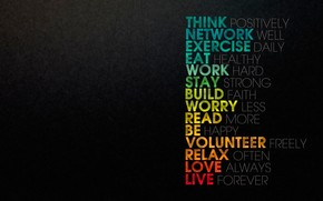 Think Positively wallpaper