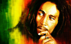 Bob Marley Portrait Painting wallpaper