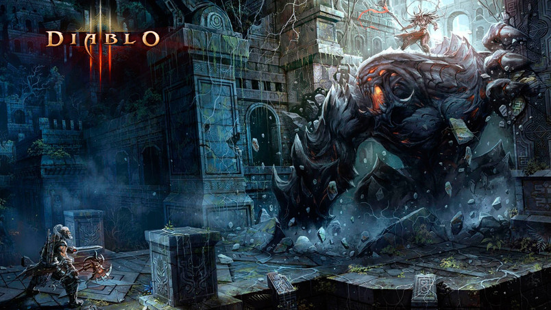 Barbarian Fight Diablo 3 Hd Wallpaper Wallpaperfx