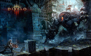 Barbarian Fight Diablo 3 wallpaper