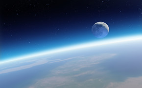 Moon Space View wallpaper
