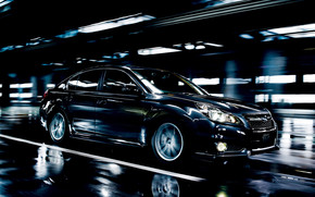 Superb Dark Subaru Legacy wallpaper