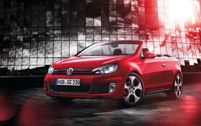 Red Golf GTI Cabriolet wallpaper