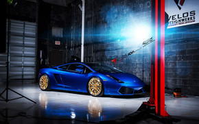 Blue Lamborghini Gallardo ADV10 wallpaper