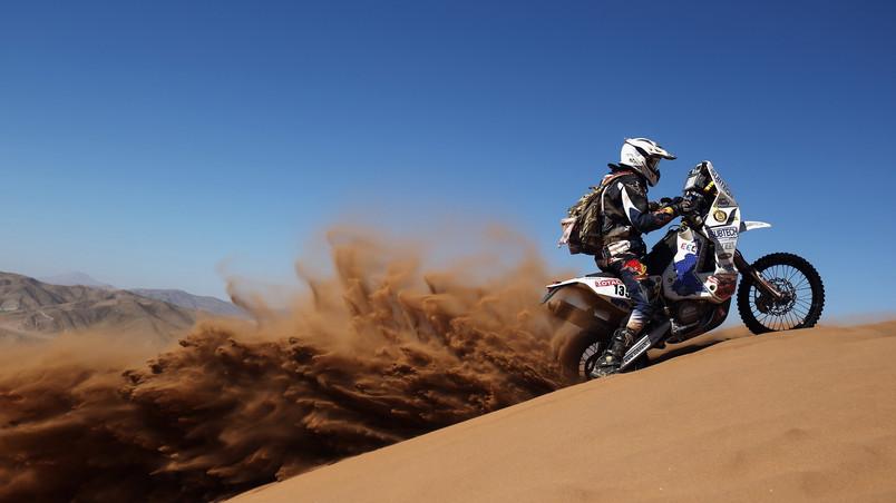 Desert Biker HD Wallpaper
