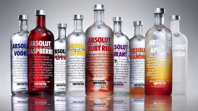 Absolut Vodka Sortiments wallpaper