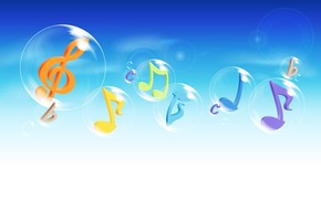 Music Notes in The Air wallpaper