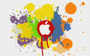 Apple Color Splash Effect wallpaper