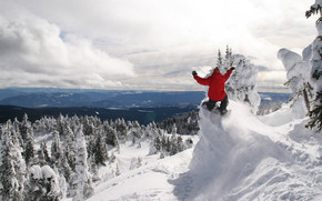 Snowboarding At Great Height wallpaper