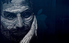 Steve Jobs Word Art wallpaper