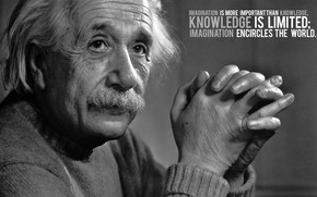 Albert Einstein Black & White wallpaper