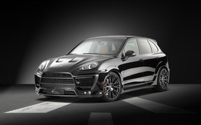 Black Lumma Porsche Cayenne wallpaper