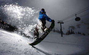 Blue Snowboarder wallpaper
