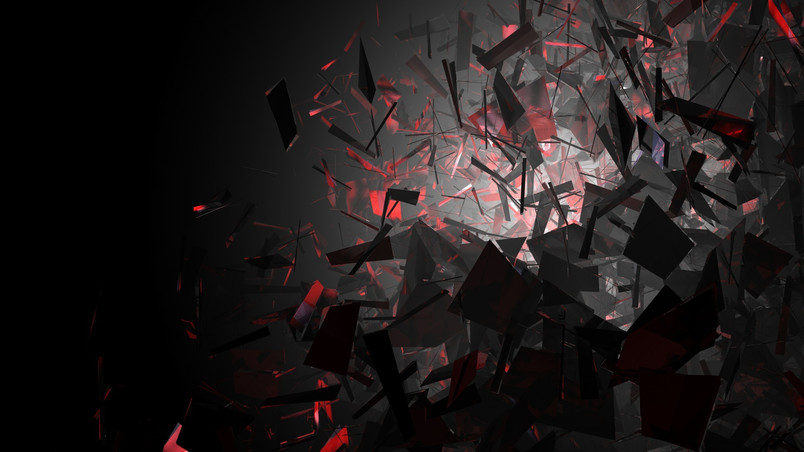 Black and Red Shapes wallpaper
