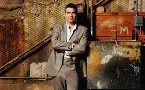 George Clooney Elegant Suit wallpaper